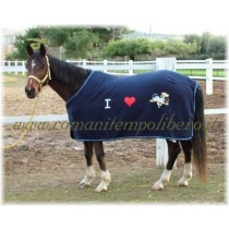 Coperta pile Pony I Love -Selleria Romani tempo libero - Selleriainternet.it
