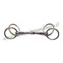 Filetto a 4 anelli fissi inox pieno -Selleria Romani tempo libero - Selleriainternet.it