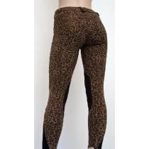 Pantalone donna da equitazione leopardato in cotone elasticizzato